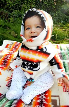 Claire needs this :). Native American Baby Fleece Jacket by SheLahNanabahDesigns on Etsy, $65.00