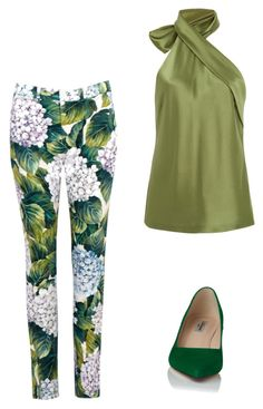 """green Wednesday"" by szilvi-srei on Polyvore featuring Dolce&Gabbana, Galvan and L.K.Bennett"
