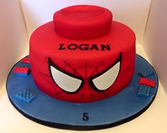 Spiderman Lego Cake