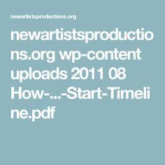 newartistsproductions.org wp-content uploads 2011 08 How-...-Start-Timeline.pdf