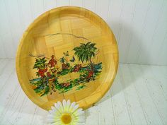 Vintage Bahama Bamboo Tourist Souvenir Tray  Retro by DivineOrders, $8.00