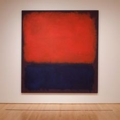 """No.14"" by American Painter Mark Rothko (1960); San Francisco Museum of Modern Art"