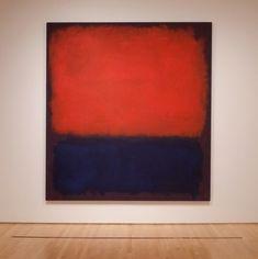 """No.14"" by American Painter Mark Rothko (1960); San Francisco Museum of Modern Art"