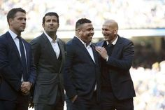 Real Madrid legend Ronaldo says he was 'shocked' by Michael Owen's reference to his on-going weight issues after the pair were reunited at the Santiago Bernabeu last weekend. Ballon D'or, Cristiano Ronaldo Cr7, Neymar, Granada Cf, Real Madrid Team, Michael Owen, Bt Sport, Zinedine Zidane, World Records