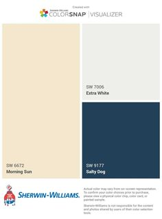 House colors- Cream-yellow house with white trim and navy door