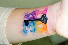 amar a la acuarela tatuaje