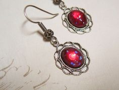 Mexican Opal Dragon's Breath Fire Opal by dfoxjewelrydesigns, $19.95