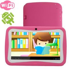 WolVol (Pink) Kids Tablet 7 inch touch screen Android with WIFI, Front & Back Camera (Children Special Edition. Best Android Tablet, Pc Android, Kids Tablet, Tablet 7, Back Camera, Slr Camera, Pink Kids, Everything Pink, Computer Accessories