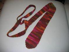 Man's crochet tie - free crochet pattern