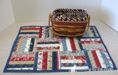 Freemotion by the River: Celebrate the 4th Table Topper tutorial