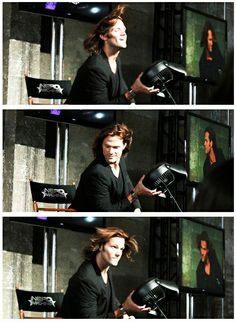 This never gets old. Jared Padalecki and his fabulous hair :D #NerdHQ2012