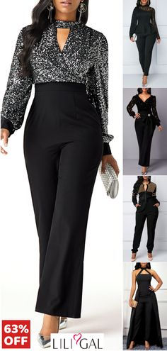 Classy jumpsuit rompers, chic office wear, elegant jumpsuits for women. Up to 60% off. Free shipping. Shop your favorite now! #liligal #jumpsuit #womensfashion