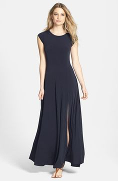 Adored! Simple yet sexy! MICHAEL Michael Kors Cap Sleeve Stretch Jersey Maxi Dress | Nordstrom