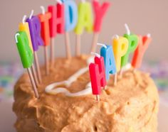 Peanut Butter & Pumpkin Dog Cake -- Making this for Huckleberry for his birthday today!