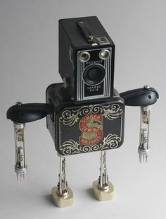 Singer - Found Object Assemblage Robot Sculpture By Brian Marshall | Flickr - Photo Sharing!