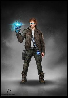 Working with tech or a new discovery, character inspiration Character Concept Art /JJ/ by mis-Yula on DeviantArt Character Concept, Character Art, Concept Art, Character Ideas, Character Reference, Space Opera, Science Fiction, Modern Magic, Sci Fi Characters