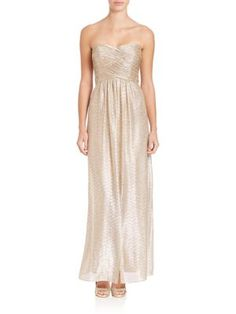 Laundry by Shelli Segal - Strapless Foil Gown