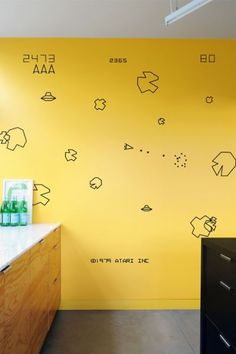 Asteroids Wall sticker