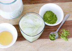 Simple Iced Matcha Latte on the Elena & Co. blog