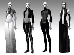 Asari Clothing Concepts from Mass Effect