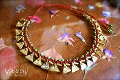 Queen of the East micro macrame collar by yasmin