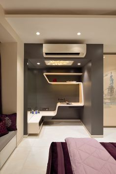 Milind Pai a one of the top Architects and Interior Designers in Mumbai India. We provide best Interior Design and architects services in Bombay India. Modern Bedroom Design, Home Design Decor, Best Interior Design, Bed Design, Wall Design, House Design, Tv Wall Cabinets, Cupboards, Luxury Furniture