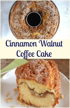 Cinnamon Walnut Coffee Cake one of the best and so easy homemeade cinnamon coffee cakes, the perfect made from scratch anytime desserts.