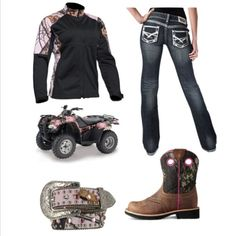 Take me muddin! Country Girls, Country Life, Country Strong, Cowgirl Outfits, Outfit Ideas, Cute Outfits, My Style, Clothes, Princess