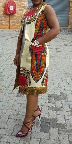 African Women Dashiki Coat Made To Order Quality African Dashiki Print Made with quality african dashiki fabric Thank for shopping African Dresses For Women, African Attire, African Wear, African Fashion Dresses, African Women, African Print Clothing, African Print Dresses, African Inspired Fashion, African Print Fashion