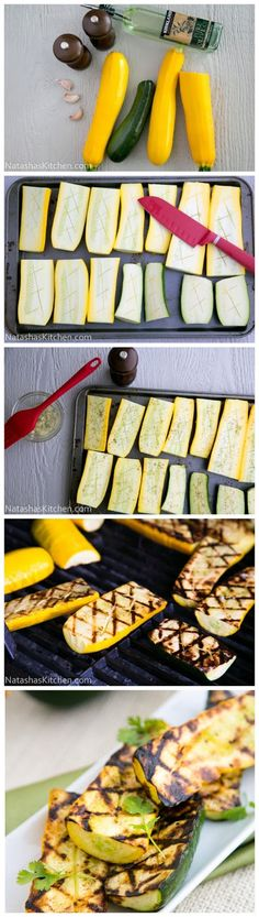 Grilling zucchini is so easy and it retains its natural meaty juiciness. Ingredients 3 garlic cloves, pressed ¼ cup olive oil 4 medium...