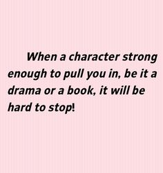Strong character. #drama #books