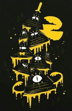 Night Parade Bill Cipher by Insane-Dorito on DeviantArt, Bill, Gravity Falls Gravity Falls Fan Art, Gravity Falls Bill Cipher, Fall Boards, Desenhos Gravity Falls, Billdip, Reverse Falls, Dipper Pines, Over The Garden Wall, Fall Wallpaper
