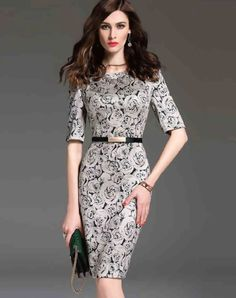 Shop multiflora White Floral Print Bodycon Sheath Dress online❤ VIPme.com offers quality Sheath Dresses from fashion designers at affordable prices.