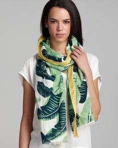 Juicy Couture - Palm Leaf Scarf
