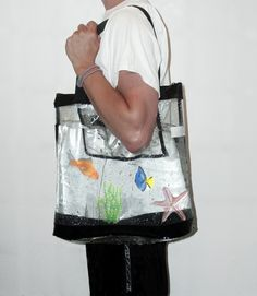 pootee:    Hand-bag Aquarium (leaks a little in the corners), 2012  Designed Object/Sculpture  ¤