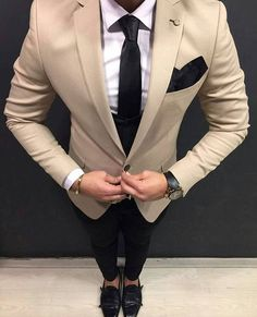 gentlemenslounge - mens lifestyle, fashion, suits and more - Mens Fashion Suits, Mens Suits, Beige Suits For Men, Oversized Sweater Outfit, Herren Outfit, Casual Outfits, Fashion Outfits, Suit And Tie, Men Wear