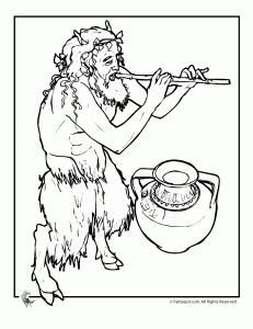 greek mythology faun 1 231x300 mythical creatures coloring pages fauns minotaurs and the phoenix