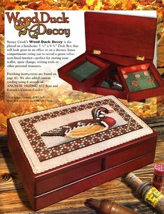 Gallery.ru / Фото #36 - 3 - mikolamazur; duck to cross stitch; use to decorate top of box or frame; great to stitch for the man in your life.