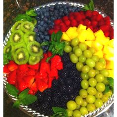 Spiraled fruit tray