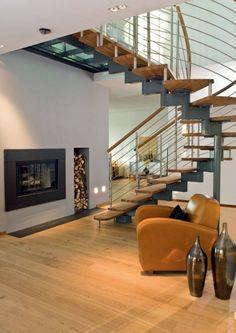 Uberlegen Erstaunliche Ideen Für Dekoration Mit Brennholzmuster   Treppenhaus