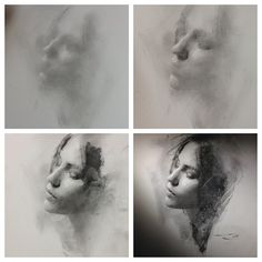 Charcoal Drawing Techniques 4 stages of charcoal portrait drawing - general to specific approach by Casey Baugh - Charcoal Portraits, Charcoal Art, Charcoal Drawings, Portrait Sketches, Portrait Art, Life Drawing, Painting & Drawing, Performance Artistique, Academic Drawing
