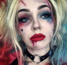 Harley queen makeup Halloween