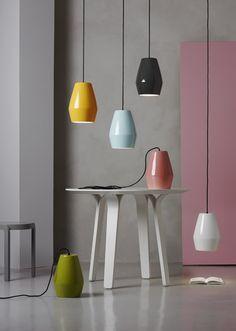 Northern Lighting   Bell pendant designed by Mark Braun