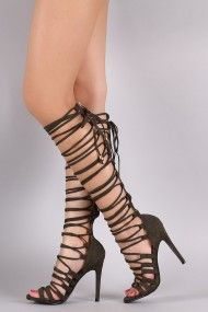 FREE SH & Easy Returns! Shop Wrap Lace Up Corset Stiletto Heel featuring a…