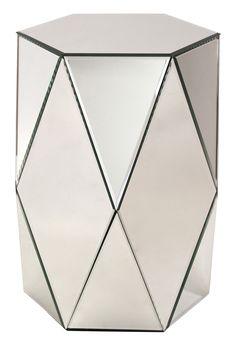 Sasha Mirrored End Table
