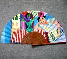 """Abanico pintado a mano a partir de """"Mujer con anémonas"""", de H. Matisse. Un abanico, una obra de arte. #abanicospintadosamano #abanicosmodernos #abanicosespañoles #abanicosartesanales #regalosdeempresa"""