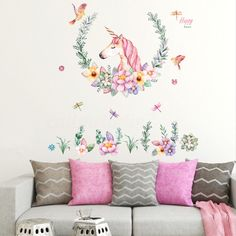Unicorn Wall Stickers Mural Decal Removable Art Vinyl Home Decoration Living Room Bedroom Stickers New