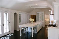 kitchen island with seating at the end | seating for 4 at narrow kitchen island | Home Sweet Home