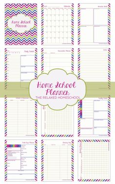 Check out this fun and colorful homeschooling planner! There are no dates included on this planner so you can easily print it out and use it again every year.