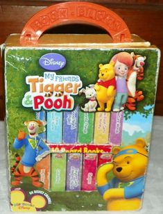 """Disney My Friends Tigger and Pooh Book Block. It is missing the book, """"Pooh's Action Words"""". Set of 11 board books in its own carrying case. 